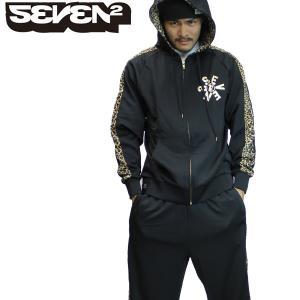 送料無料 SEVEN2 セブンツー ジャージ 上下セット メンズ BK(ヒョウ柄)*sl40〜fs*|brv-2nd-brand