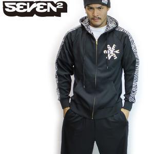 送料無料 SEVEN2 セブンツー ジャージ 上下セット メンズ BKZ(ゼブラ柄)*sl40〜fs*|brv-2nd-brand