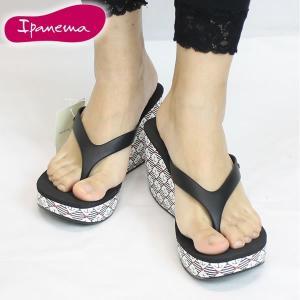 15SS イパネマ IPANEMA LIP THONG 3 pm81569 : BLK 正規品 レディーストング ウェッジサンダル 【cat-fs】靴/シューズ|brv-2nd-brand