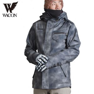 16-17 WACON ジャケット blast-j : D.BLACK 正規品/メンズ/ワコン/スノーボード/ウエア/ウェア/snow|brv-2nd-brand