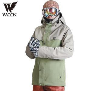 16-17 WACON ジャケット gran : BEG/KHK 正規品/メンズ/ワコン/スノーボード/ウエア/ウェア/snow|brv-2nd-brand