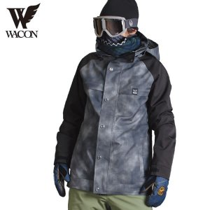 16-17 WACON ジャケット gran : D.BLK/BLK 正規品/メンズ/ワコン/スノーボード/ウエア/ウェア/snow|brv-2nd-brand