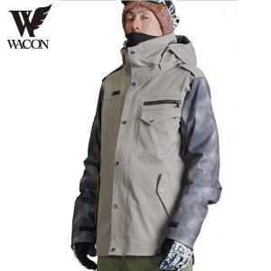 16-17 WACON ジャケット tricks : BEG/D.BLK 正規品/メンズ/ワコン/スノーボード/ウエア/ウェア/snow|brv-2nd-brand
