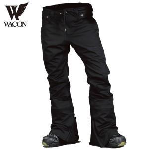 17-18 WACON パンツ EMOTION : Black 正規品/メンズ/ワコン/スノーボード/ウエア/ウェア/snow|brv-2nd-brand