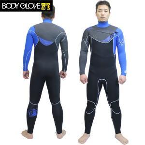 15SS BODY GLOVE ボディグローブ メンズ2/3フルスーツ PRIME SLANT ZIP 13123JP : blu ボディーグローブ ウエットスーツ JAPAN FIT|brv-2nd-brand