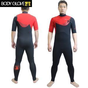 BODY GLOVE ボディグローブ メンズ2MMシーガル PRIME 14155JP : red フラットシーマウエットスーツ JAPAN FIT【cat-surf】 ボディーグローブ brv-2nd-brand