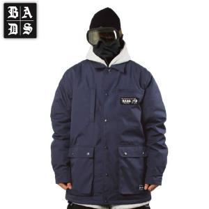 16-17 BADS ジャケット REPAIR JACKET ba2100: nvy 正規品/スノーボードウエア/badass/バダス/バッズ/メンズ/ウェア/snow/ビッグサイズ/キングサイズ|brv-2nd-brand