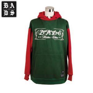 16-17 BADS パーカー SWITCH HOOD ba2306: Moss Red 正規品/スノーボードウエア/badass/バダス/バッズ/メンズ/ウェア/snow|brv-2nd-brand