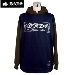 16-17 BADS パーカー SWITCH HOOD ba2306: Navy Brown 正規品/スノーボードウエア/badass/バダス/バッズ/メンズ/ウェア/snow|brv-2nd-brand