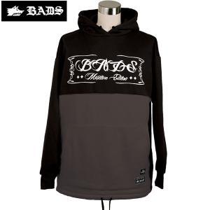 16-17 BADS パーカー 2TONE HOOD ba2307: Black Charcoal 正規品/badass/バダス/バッズ/メンズ/snow/ビッグサイズ/キングサイズ|brv-2nd-brand