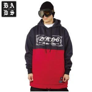 16-17 BADS パーカー 2TONE HOOD ba2307: Navy Red 正規品/badass/バダス/バッズ/メンズ/snow/ビッグサイズ/キングサイズ|brv-2nd-brand
