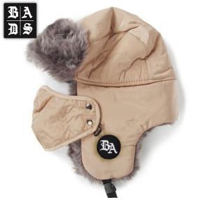 16-17 BADS ボマーハット Bomber 3 ba2600: bge 正規品/バッズ/スノーボード/badass/バダス/帽子/ビーニー/cat-snow|brv-2nd-brand