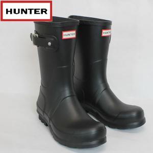 ハンター HUNTER メンズ オリジナルショート ラバーブーツ hmfs9000rma: BLK 国内正規品 WELLY/長靴/レインブーツ靴/シューズ|brv-2nd-brand