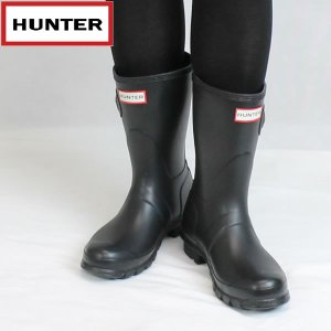 ハンター HUNTER レディース オリジナル ショートラバーブーツ hwfs1000rma: BLK 国内正規品 WELLY/長靴/レインブーツ靴/シューズ|brv-2nd-brand