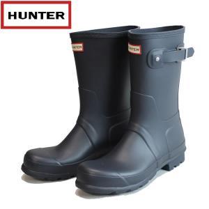 ハンター HUNTER メンズ オリジナルショート ラバーブーツ hmfs9000rma: NVY 国内正規品 WELLY/長靴/レインブーツ/cat-fs/靴/シューズ|brv-2nd-brand