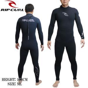 リップカール RIP CURL メンズウェットスーツ 3X2MM フルスーツ BACK ZIP x30-306: BLK 日本正規品 ウエットスーツ【cat-surf】|brv-2nd-brand