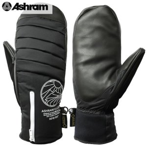 送料無料 17-18 ASHRAM グローブ ARMA: BLACK 正規品/アシュラム/メンズ/as17arma/スノーボード/ミトン/ミット/snow|brv-2nd-brand