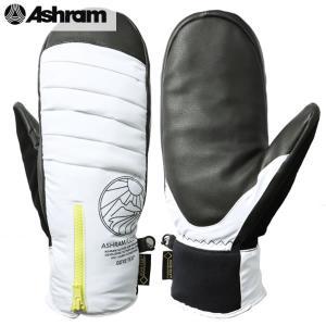 送料無料 17-18 ASHRAM グローブ ARMA: WHITE 正規品/アシュラム/メンズ/as17armawht/スノーボード/ミトン/ミット/snow|brv-2nd-brand