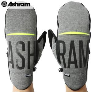 17-18 ASHRAM グローブ GAMBINO: H.GREY 正規品/アシュラム/メンズ/gambino/スノーボード/ミトン/ミット/snow|brv-2nd-brand