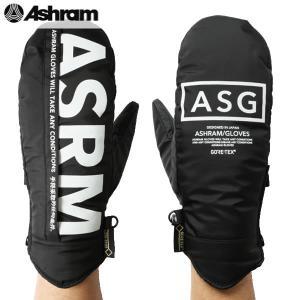 17-18 ASHRAM グローブ m.o.l.l.e : BLACK 正規品/アシュラム/メンズ/molle/スノーボード/ミトン/ミット/snow|brv-2nd-brand