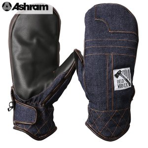 18-19 ASHRAM グローブ BRONSON MITT : Indigo Denim 正規品/アシュラム/メンズ/ブロンソン/スノーボード/ミトン/ミット/snow|brv-2nd-brand