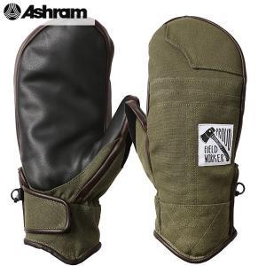 18-19 ASHRAM グローブ BRONSON MITT : Olive Canvas 正規品/アシュラム/メンズ/ブロンソン/スノーボード/ミトン/ミット/snow|brv-2nd-brand
