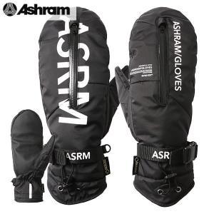 18-19 ASHRAM グローブ m.o.l.l.e : BLACK 正規品/アシュラム/メンズ/molle/モール/スノーボード/ミトン/ミット/snow|brv-2nd-brand