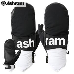 18-19 ASHRAM グローブ PHOEBE : blk 正規品/アシュラム/メンズ/フィービー/スノーボード/ミトン/ミット/snow|brv-2nd-brand