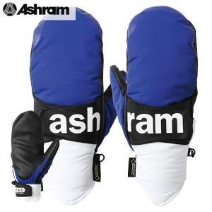 18-19 ASHRAM グローブ PHOEBE : blu 正規品/アシュラム/メンズ/フィービー/スノーボード/ミトン/ミット/snow|brv-2nd-brand