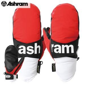 18-19 ASHRAM グローブ PHOEBE : red 正規品/アシュラム/メンズ/フィービー/スノーボード/ミトン/ミット/snow|brv-2nd-brand