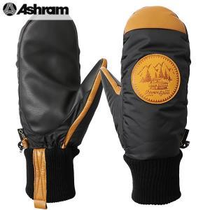 18-19 ASHRAM グローブ PODEROSA : Black 正規品/アシュラム/メンズ/ポデローザ/スノーボード/ミトン/ミット/snow|brv-2nd-brand