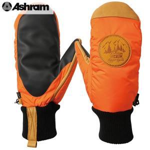 18-19 ASHRAM グローブ PODEROSA : Orange 正規品/アシュラム/メンズ/ポデローザ/スノーボード/ミトン/ミット/snow|brv-2nd-brand