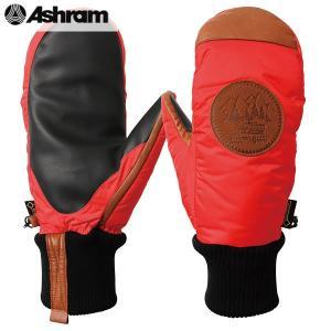 18-19 ASHRAM グローブ PODEROSA : red 正規品/アシュラム/メンズ/ポデローザ/スノーボード/ミトン/ミット/snow|brv-2nd-brand