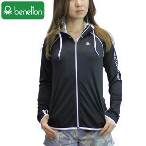 18SS レディース BENETTON ラッシュガード 227-850: bk 正規品/ベネトン/227850/長袖/surf|brv-2nd-brand