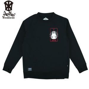 送料無料 17-18 ANTHEM ボンデッドクルー BONDED BEAR SKULL CREW an1763: Black 正規品/メンズ/レディース/スノーボードウエア/ウェア/アンセム/snow|brv-2nd-brand
