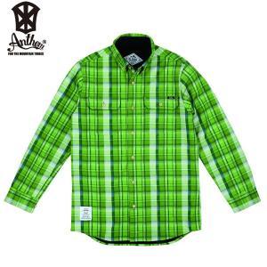 17-18 ANTHEM ボンデッドシャツ BONDED CHECK SHIRT an1765: Spring Green Check 正規品/メンズ/レディース/スノーボードウエア/ウェア/アンセム/snow|brv-2nd-brand