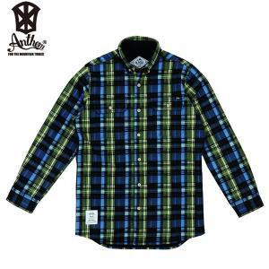 17-18 ANTHEM ボンデッドシャツ BONDED CHECK SHIRT an1765: Mix Navy Check 正規品/メンズ/レディース/スノーボードウエア/ウェア/アンセム/snow|brv-2nd-brand