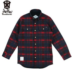 17-18 ANTHEM ボンデッドシャツ BONDED CHECK SHIRT an1765: Grade Red Check 正規品/メンズ/レディース/スノーボードウエア/ウェア/アンセム/snow|brv-2nd-brand