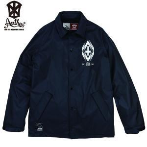 17-18 ANTHEM コーチジャケット FOLKLORE COACH JKT an1770: blk 正規品/メンズ/レディース/スノーボードウエア/ウェア/アンセム/snow|brv-2nd-brand