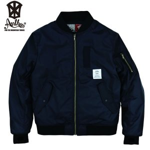 17-18 ANTHEM ジャケット MA-1 JKT an1786: Black 正規品/メンズ/レディース/スノーボードウエア/ウェア/アンセム/snow brv-2nd-brand