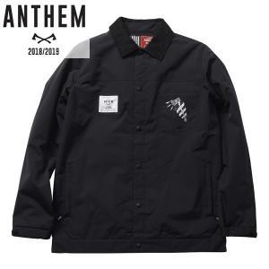 18-19 ANTHEM コーチジャケット KEYHOLE COACH JKT an1804: blk 正規品/メンズ/レディース/スノーボードウエア/ウェア/アンセム/snow brv-2nd-brand