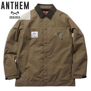 18-19 ANTHEM コーチジャケット KEYHOLE COACH JKT an1804: kha 正規品/メンズ/レディース/スノーボードウエア/ウェア/アンセム/snow brv-2nd-brand