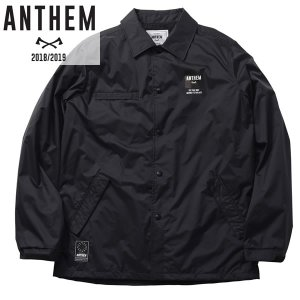 18-19 ANTHEM コーチジャケット BACK PATCH COACH JKT an1805: blk 正規品/メンズ/レディース/スノーボードウエア/ウェア/アンセム/snow brv-2nd-brand