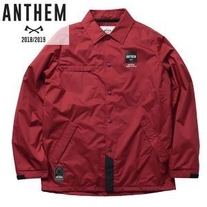 18-19 ANTHEM コーチジャケット BACK PATCH COACH JKT an1805: burgundy 正規品/メンズ/レディース/スノーボードウエア/ウェア/アンセム/snow brv-2nd-brand