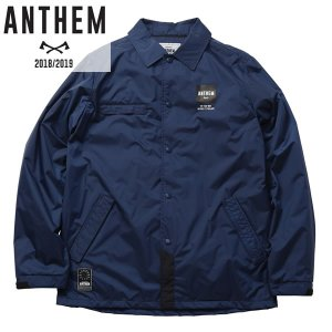 18-19 ANTHEM コーチジャケット BACK PATCH COACH JKT an1805: nvy 正規品/メンズ/レディース/スノーボードウエア/ウェア/アンセム/snow brv-2nd-brand