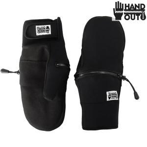 17-18 HAND OUT GLOVE グローブ LT WEIGHT MITTEN : blk 正規品/スノーボード/ハンドアウトグローブ/メンズ/ミット/ミトン/snow brv-2nd-brand