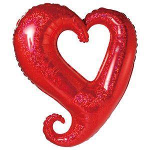 バルーン電報 結婚式 送料無料 ハート  大きなハートバルーン レッド 人気のバルーンギフト|bs-olive