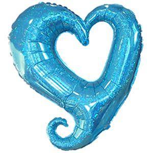 バルーン 電報 結婚式 誕生日 大きなハートバルーン ブルー 人気のバルーンギフト|bs-olive
