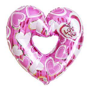 バルーン電報 ハート 送料無料 可愛いピンクのハートバルーン 人気の結婚式バルーンギフト|bs-olive
