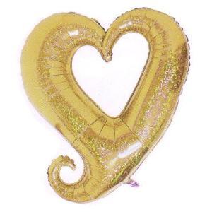 バルーン 電報 結婚式 誕生日 大きなハートバルーン ゴールド 人気のバルーンギフト|bs-olive
